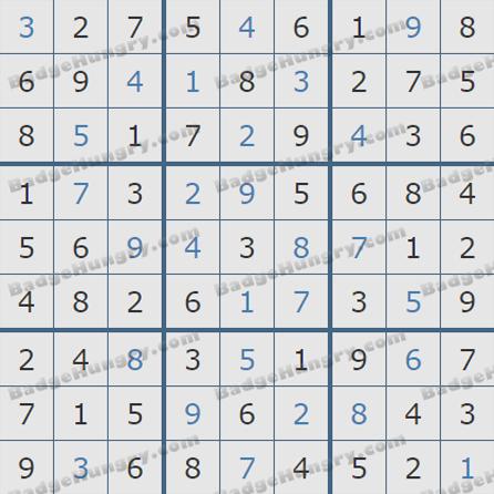 Pogo Daily Sudoku Solutions: September 28, 2019