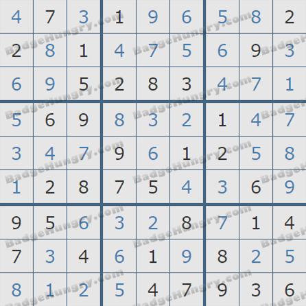 Pogo Daily Sudoku Solutions: September 29, 2019