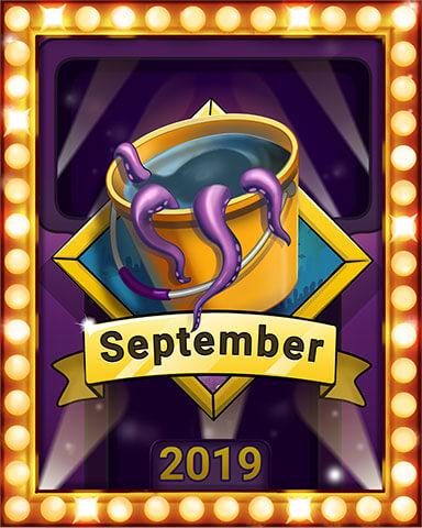 September 2019 Game of the Month Quinn's Aquarium Badge