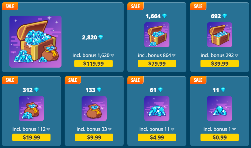 Flash Sale: Get More Gems per Pack