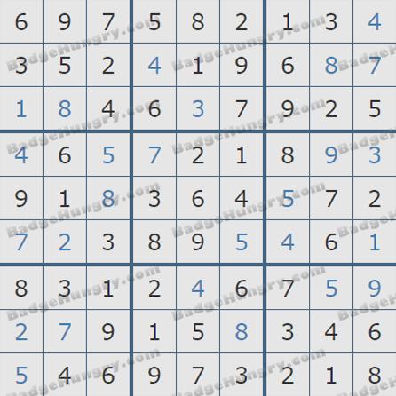 Pogo Daily Sudoku Solutions: October 2, 2019