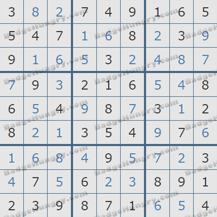 Pogo Daily Sudoku Solutions: October 3, 2019