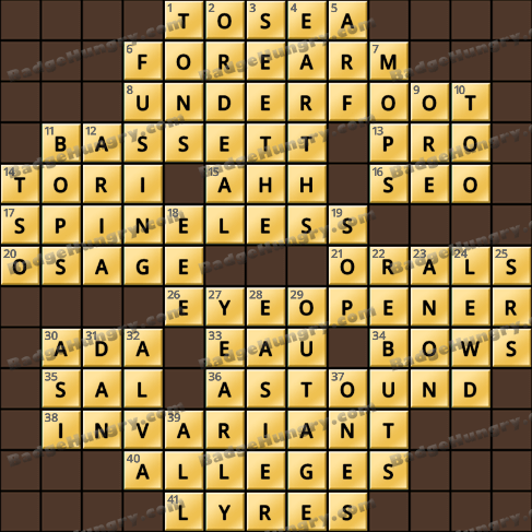 Crossword Cove HD Solution: October 3, 2019
