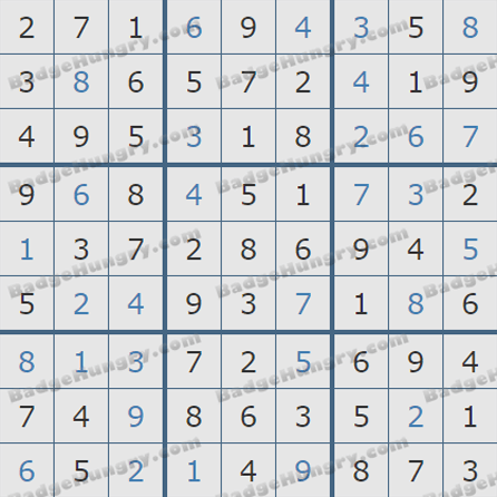 Pogo Daily Sudoku Solutions: October 4, 2019