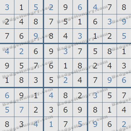 Pogo Daily Sudoku Solutions: October 5, 2019