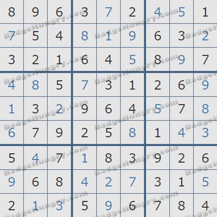 Pogo Daily Sudoku Solutions: October 7, 2019