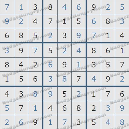 Pogo Daily Sudoku Solutions: October 9, 2019