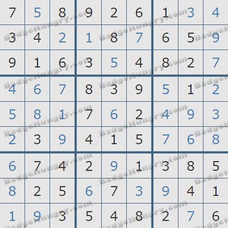 Pogo Daily Sudoku Solutions: October 10, 2019