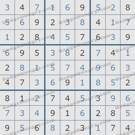 Pogo Daily Sudoku Solutions: October 11, 2019