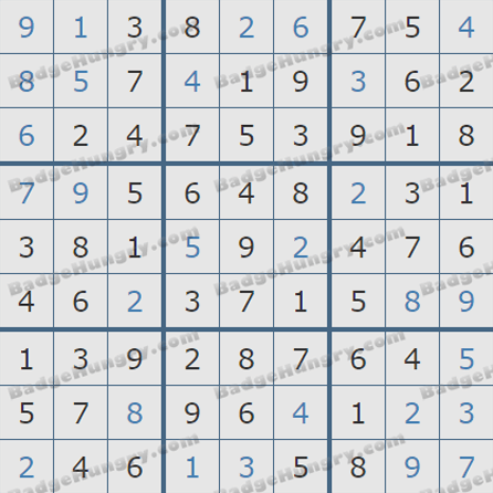 Pogo Daily Sudoku Solutions: October 13, 2019