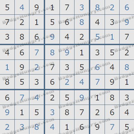 Pogo Daily Sudoku Solutions: October 14, 2019