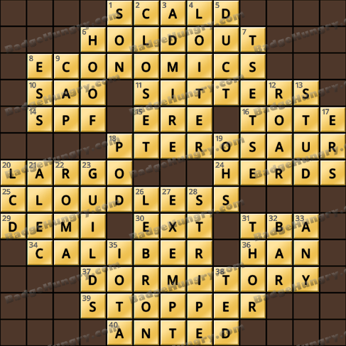 Crossword Cove HD Solution: October 14, 2019