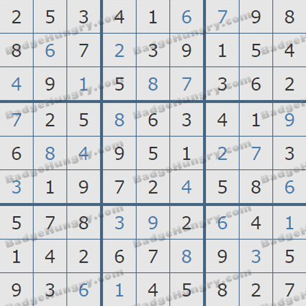 Pogo Daily Sudoku Solutions: October 15, 2019