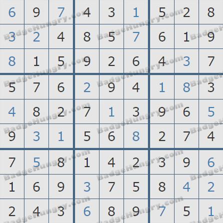 Pogo Daily Sudoku Solutions: October 16, 2019