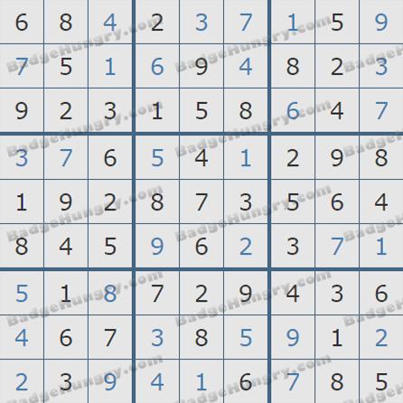 Pogo Daily Sudoku Solutions: October 18, 2019