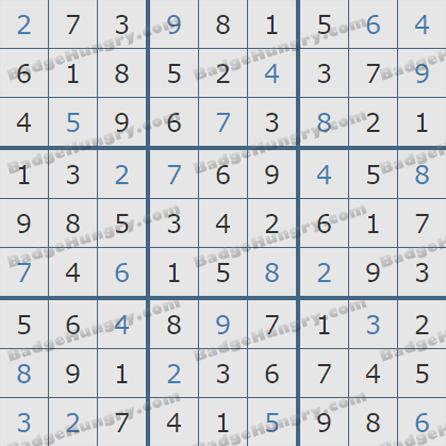 Pogo Daily Sudoku Solutions: October 19, 2019