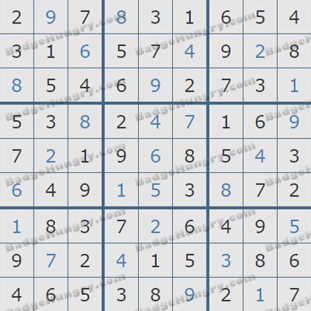 Pogo Daily Sudoku Solutions: October 20, 2019