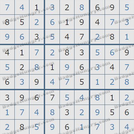 Pogo Daily Sudoku Solutions: October 22, 2019