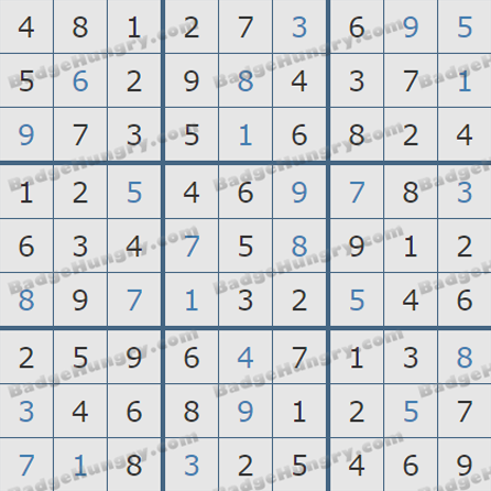 Pogo Daily Sudoku Solutions: October 23, 2019