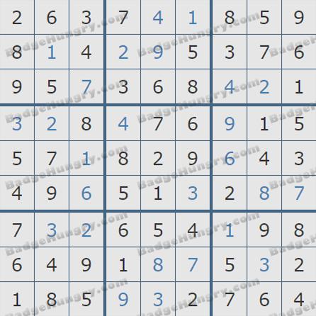 Pogo Daily Sudoku Solutions: October 25, 2019