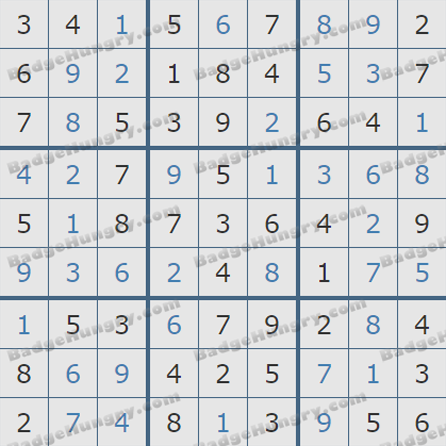 Pogo Daily Sudoku Solutions: October 26, 2019