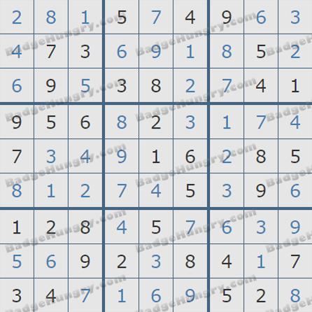 Pogo Daily Sudoku Solutions: October 28, 2019