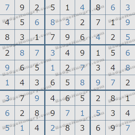 Pogo Daily Sudoku Solutions: October 30, 2019