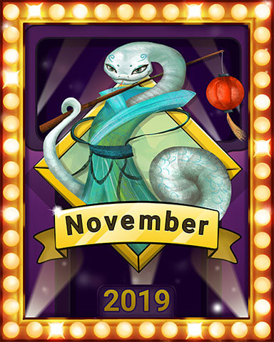 November 2019 Game of the Month Mahjong Garden HD Badge
