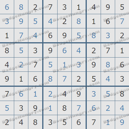 Pogo Daily Sudoku Solutions: November 1, 2019