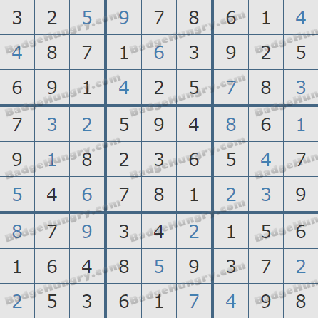 Pogo Daily Sudoku Solutions: November 2, 2019