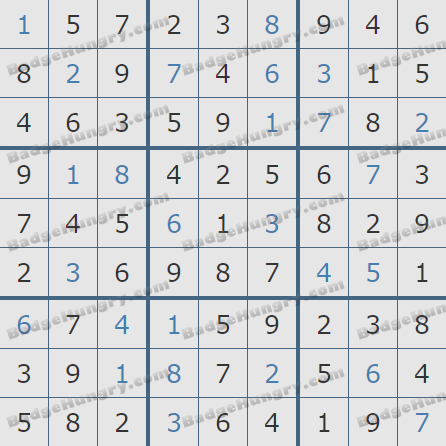 Pogo Daily Sudoku Solutions: November 3, 2019