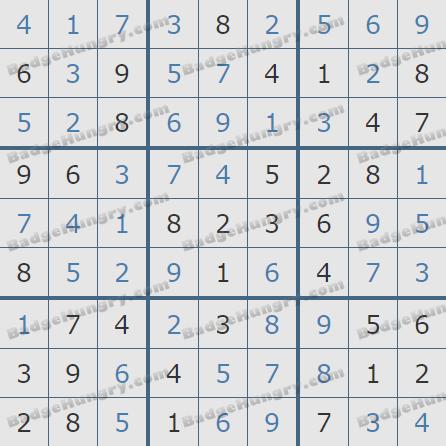 Pogo Daily Sudoku Solutions: November 4, 2019