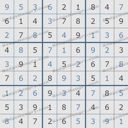 Pogo Daily Sudoku Solutions: November 5, 2019