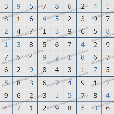 Pogo Daily Sudoku Solutions: November 7, 2019