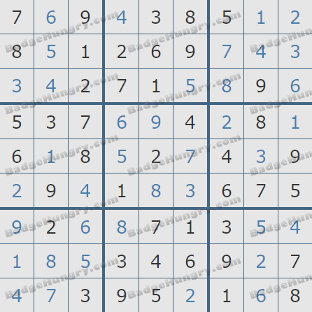Pogo Daily Sudoku Solutions: November 8, 2019