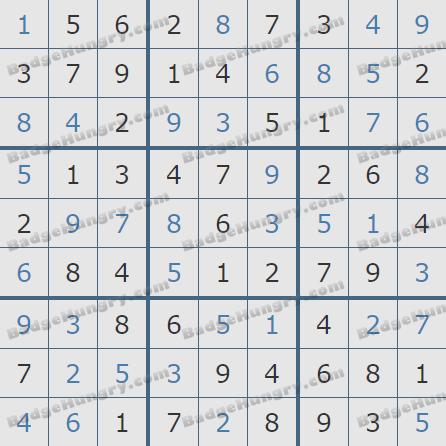 Pogo Daily Sudoku Solutions: November 9, 2019