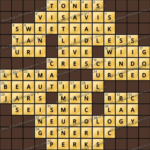 Crossword Cove HD Solution: November 9, 2019
