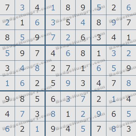 Pogo Daily Sudoku Solutions: November 11, 2019