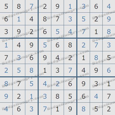 Pogo Daily Sudoku Solutions: November 12, 2019