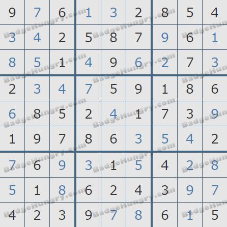 Pogo Daily Sudoku Solutions: November 13, 2019