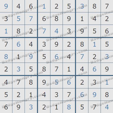 Pogo Daily Sudoku Solutions: November 14, 2019