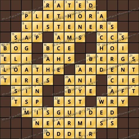 Crossword Cove HD Solution: November 14, 2019