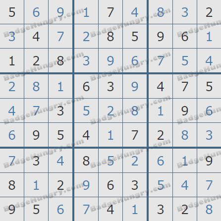 Pogo Daily Sudoku Solutions: November 16, 2019