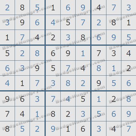Pogo Daily Sudoku Solutions: November 18, 2019