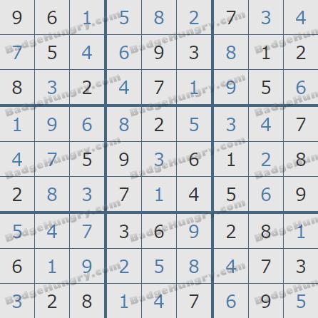 Pogo Daily Sudoku Solutions: November 19, 2019