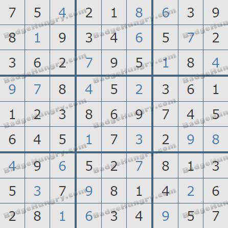 Pogo Daily Sudoku Solutions: November 20, 2019