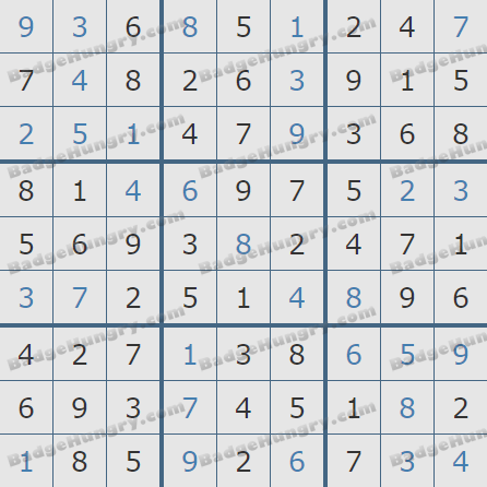 Pogo Daily Sudoku Solutions: November 22, 2019
