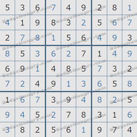 Pogo Daily Sudoku Solutions: November 26, 2019