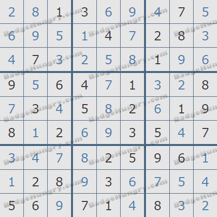 Pogo Daily Sudoku Solutions: November 28, 2019