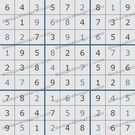 Pogo Daily Sudoku Solutions: November 30, 2019